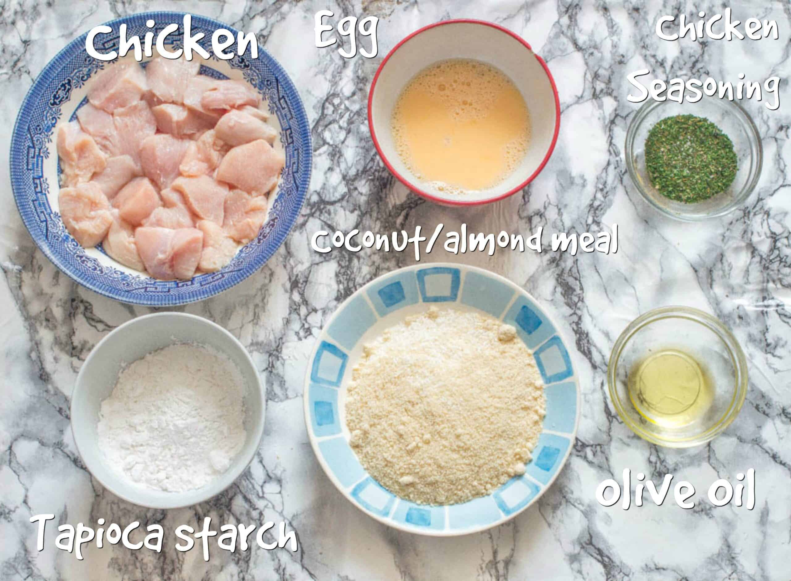 ingredients for gluten free chicken nuggets