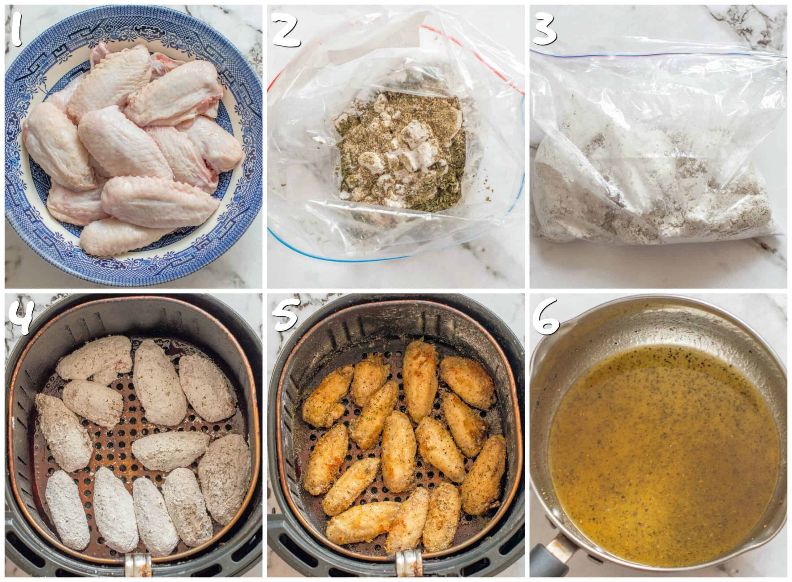 steps 1-6 prepping the chicken