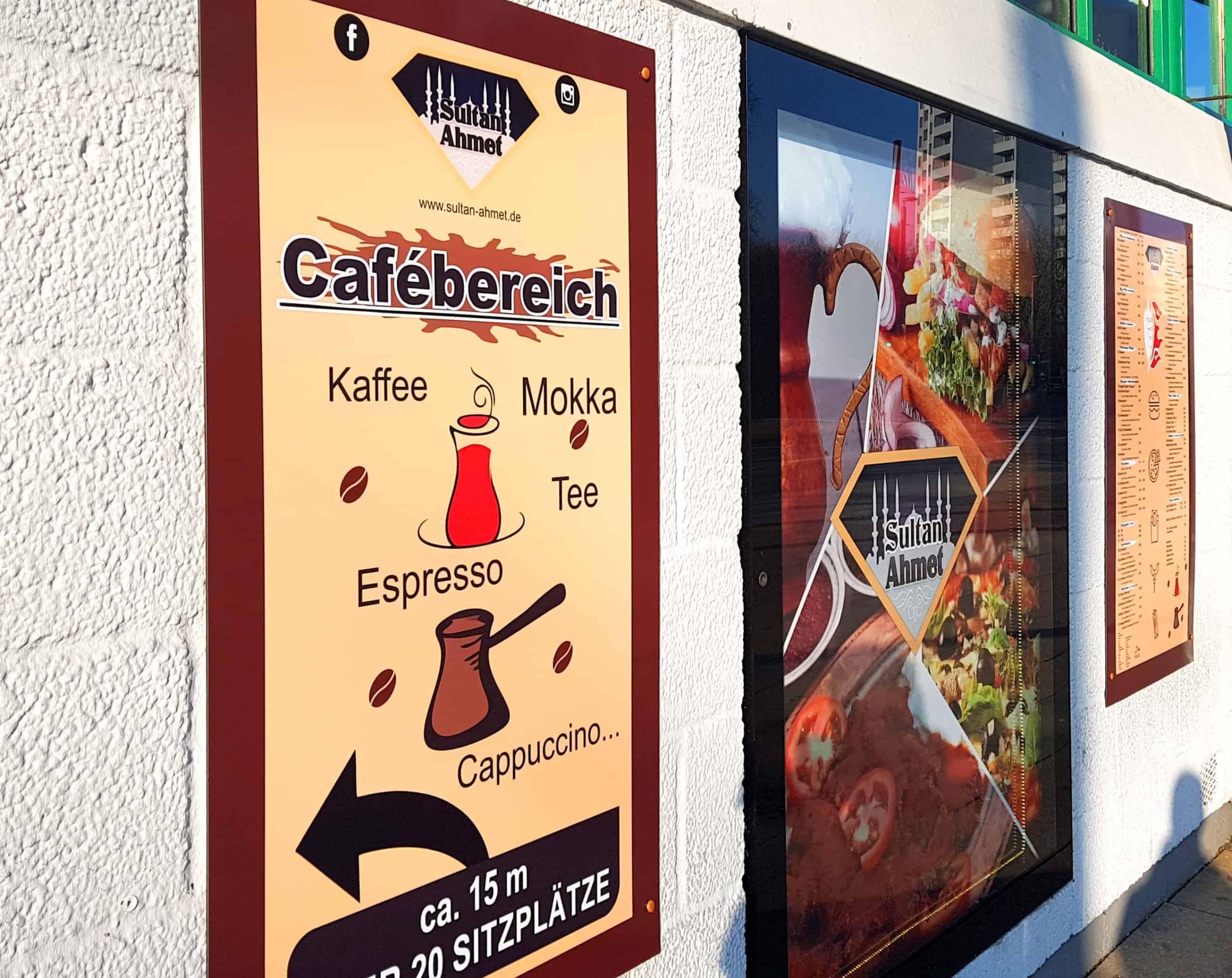 Angebot Schild an Außenfassade Reklame Bremen