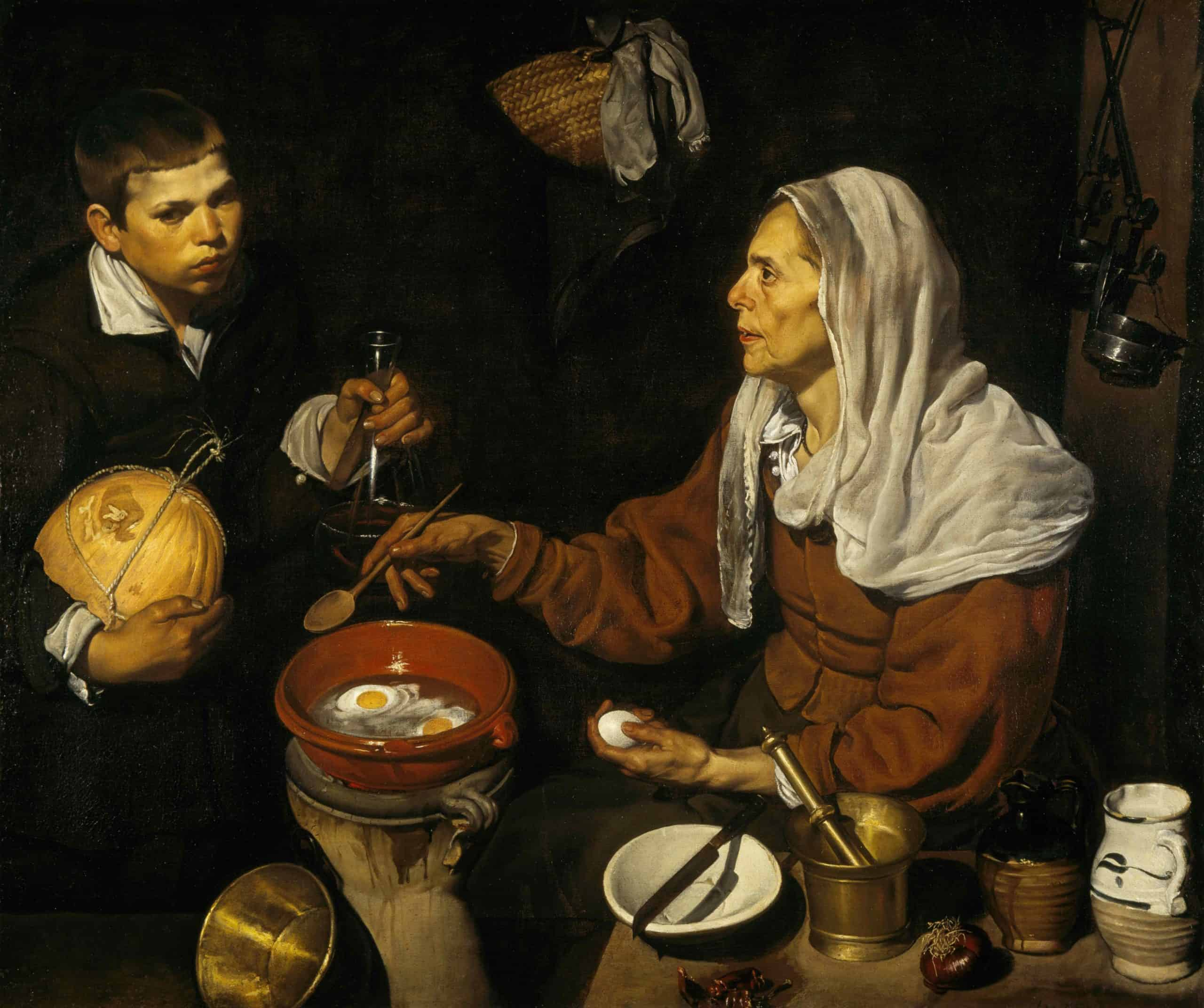 Velázquez, Old Woman Frying Eggs, 1618.