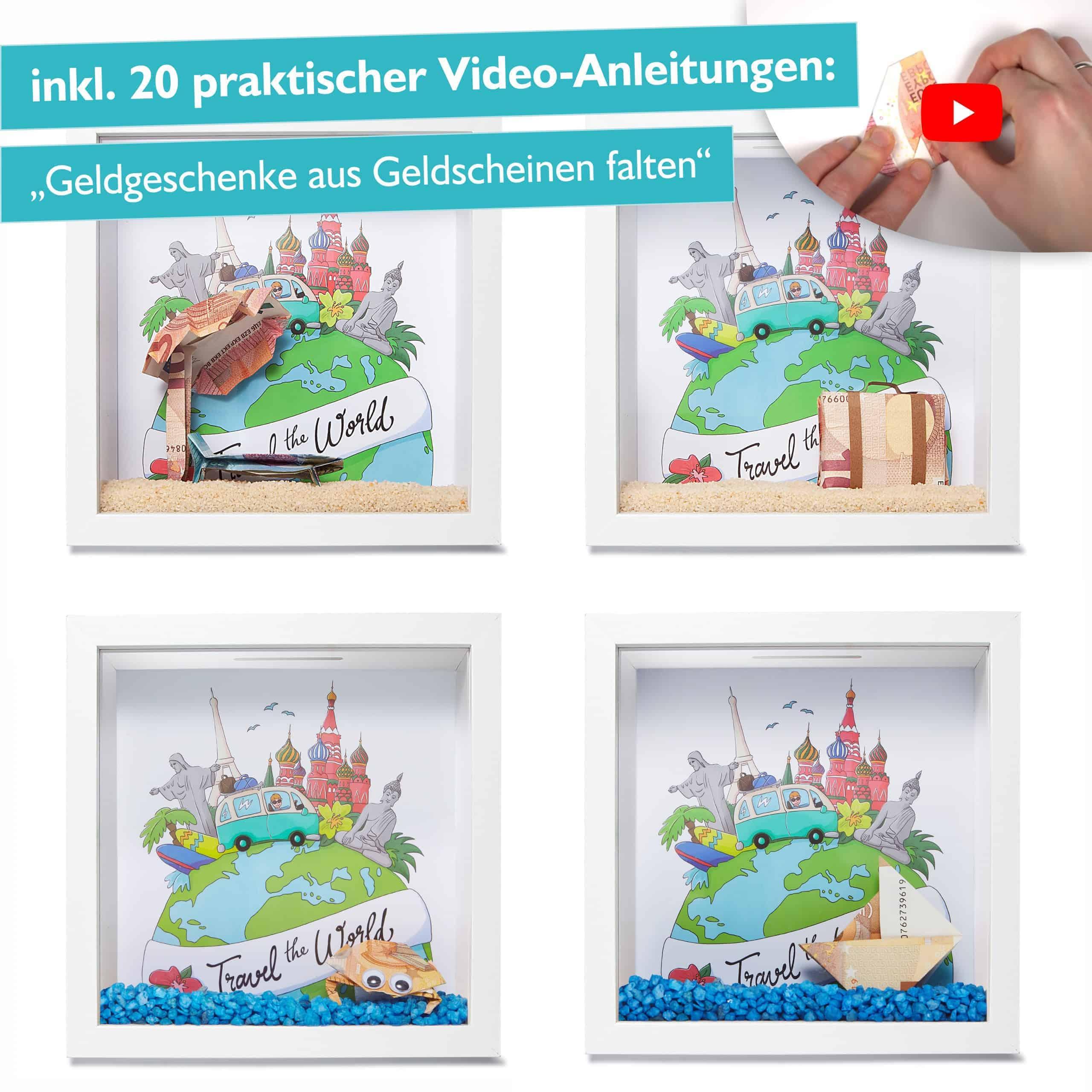 Bild_5 - Glückswolke Spardose 3D Bilderrahmen befüllen Reisekasse Urlaubskasse Reisen