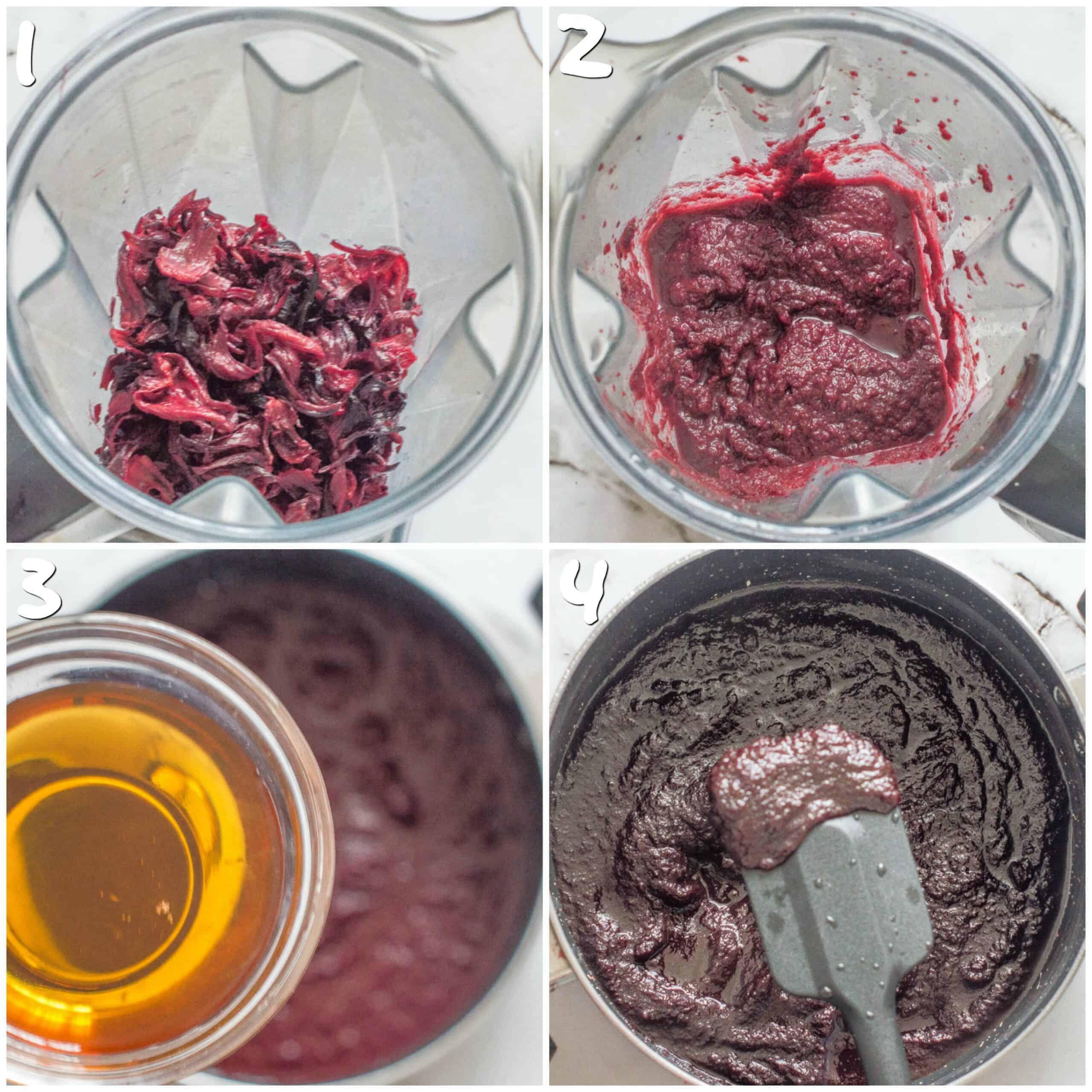 steps1-4 making the jam