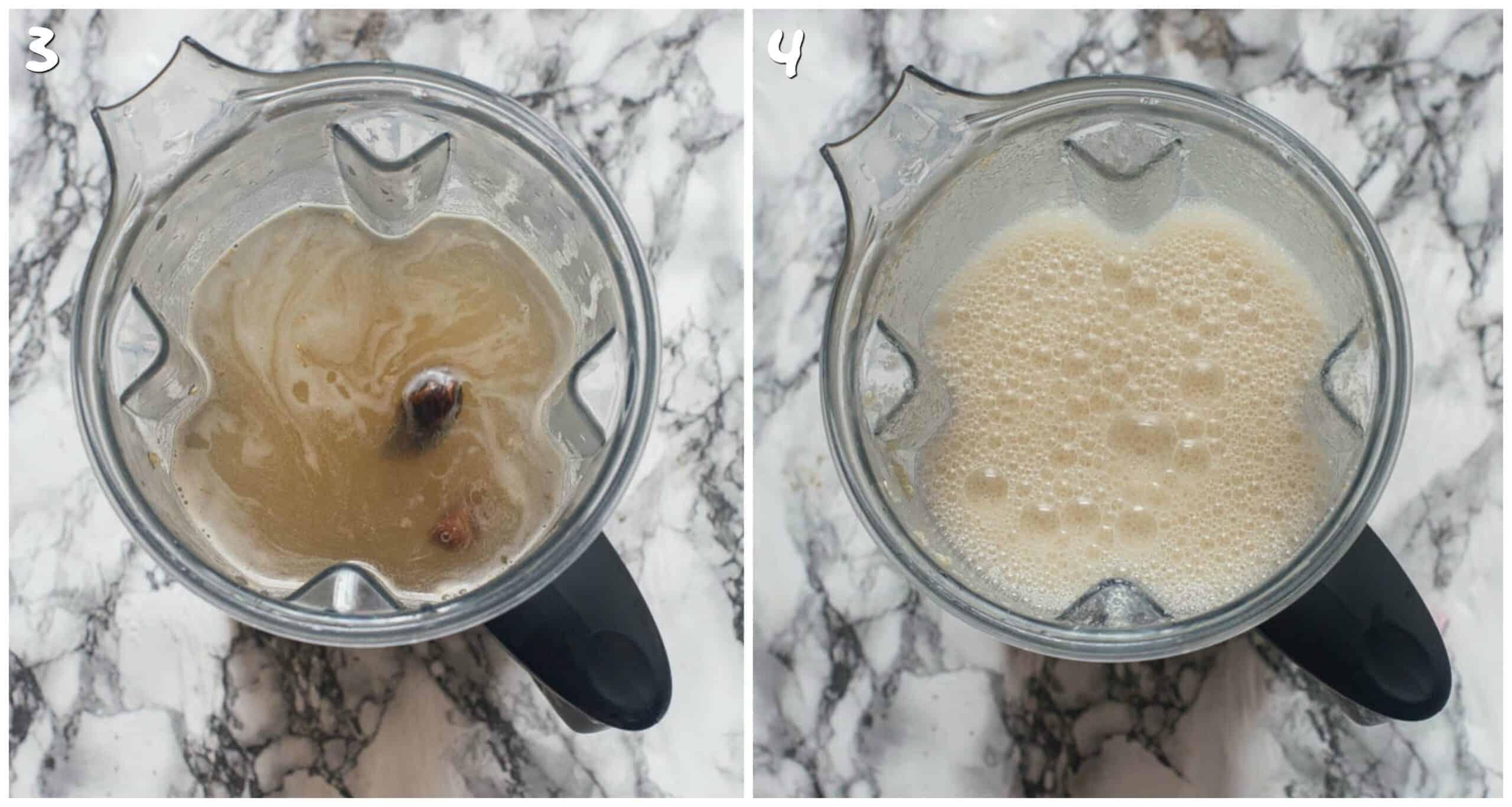 steps 3-4 blending the milk