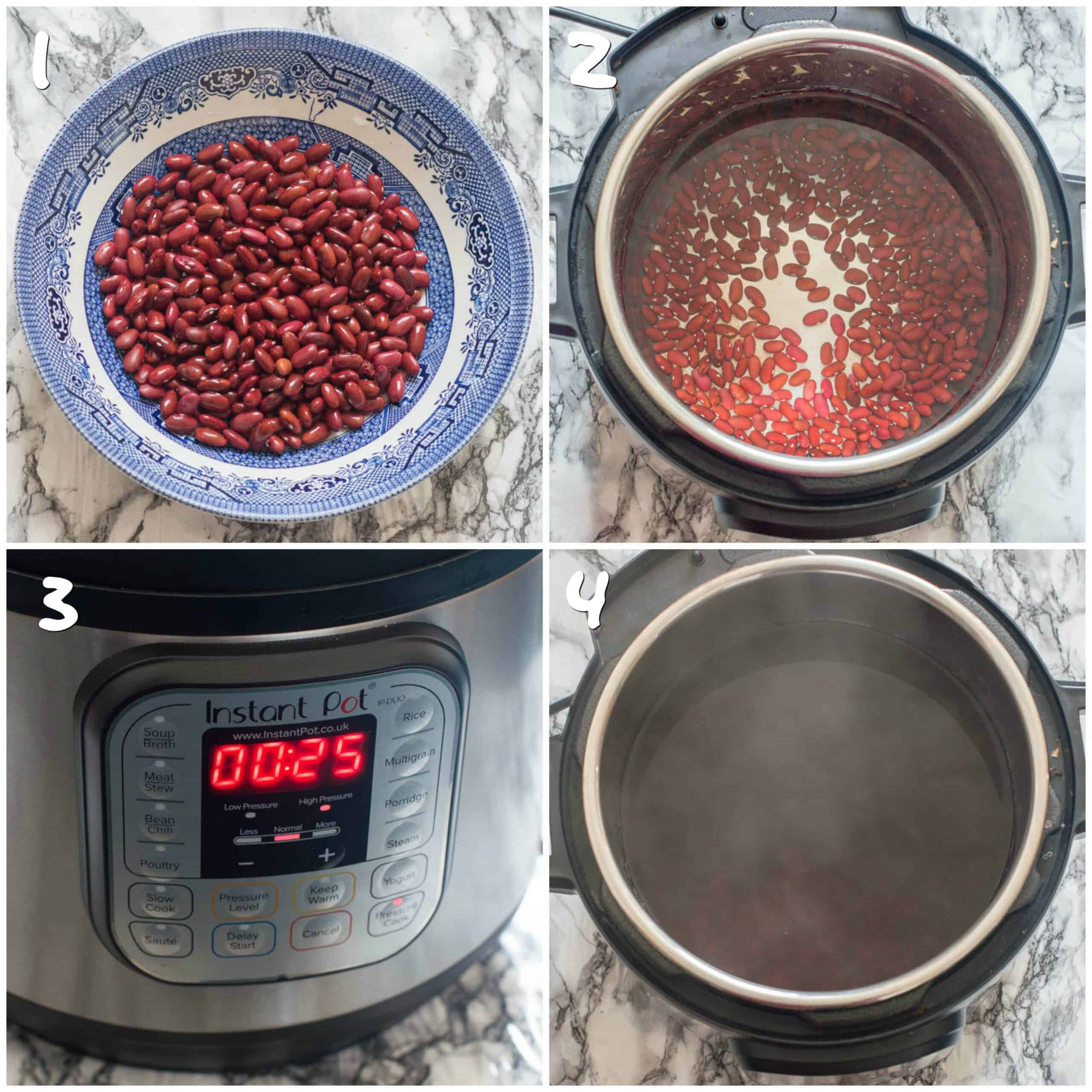 steps for pressure cooking legumes