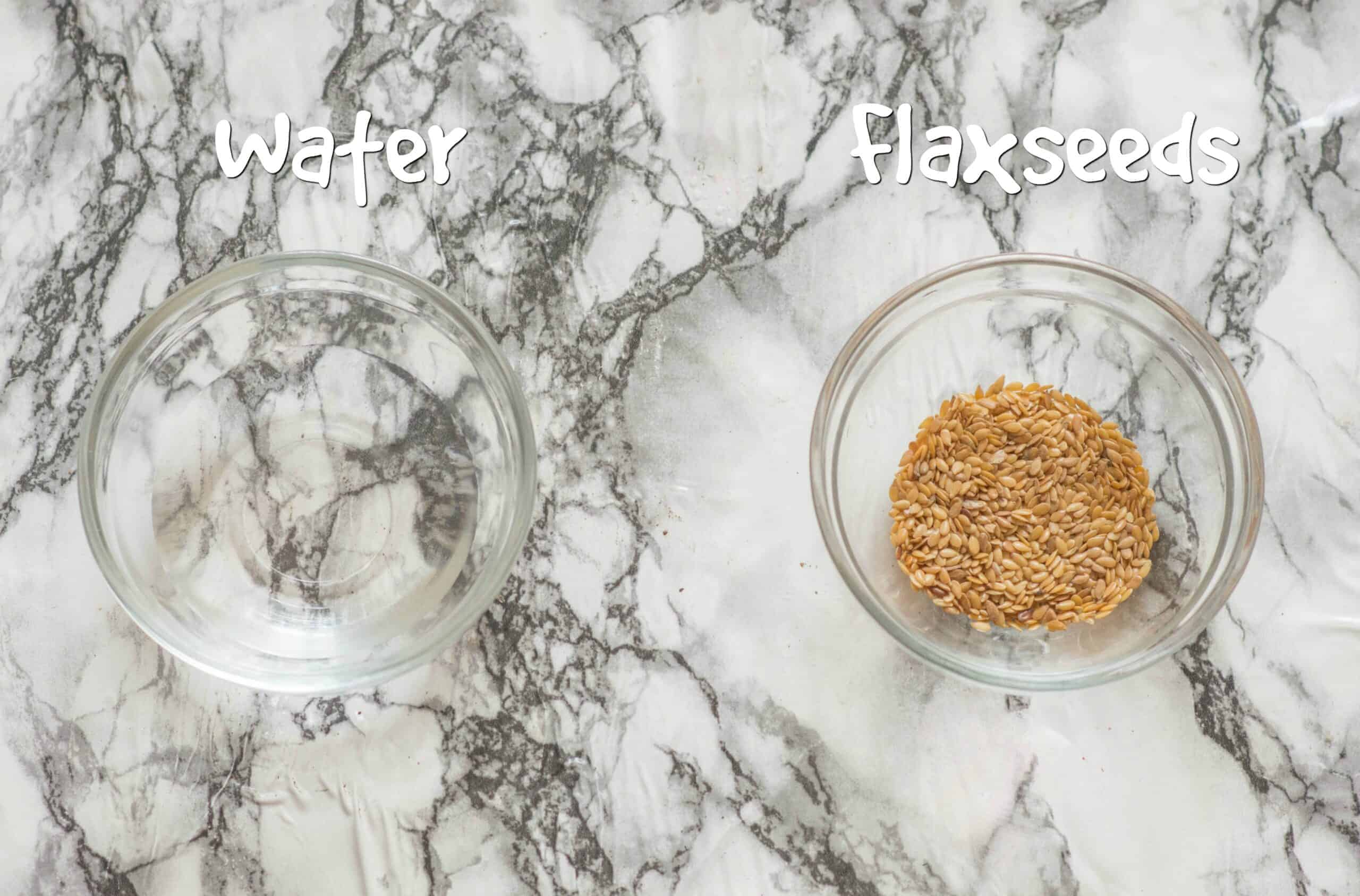 ingredients for flax eggs