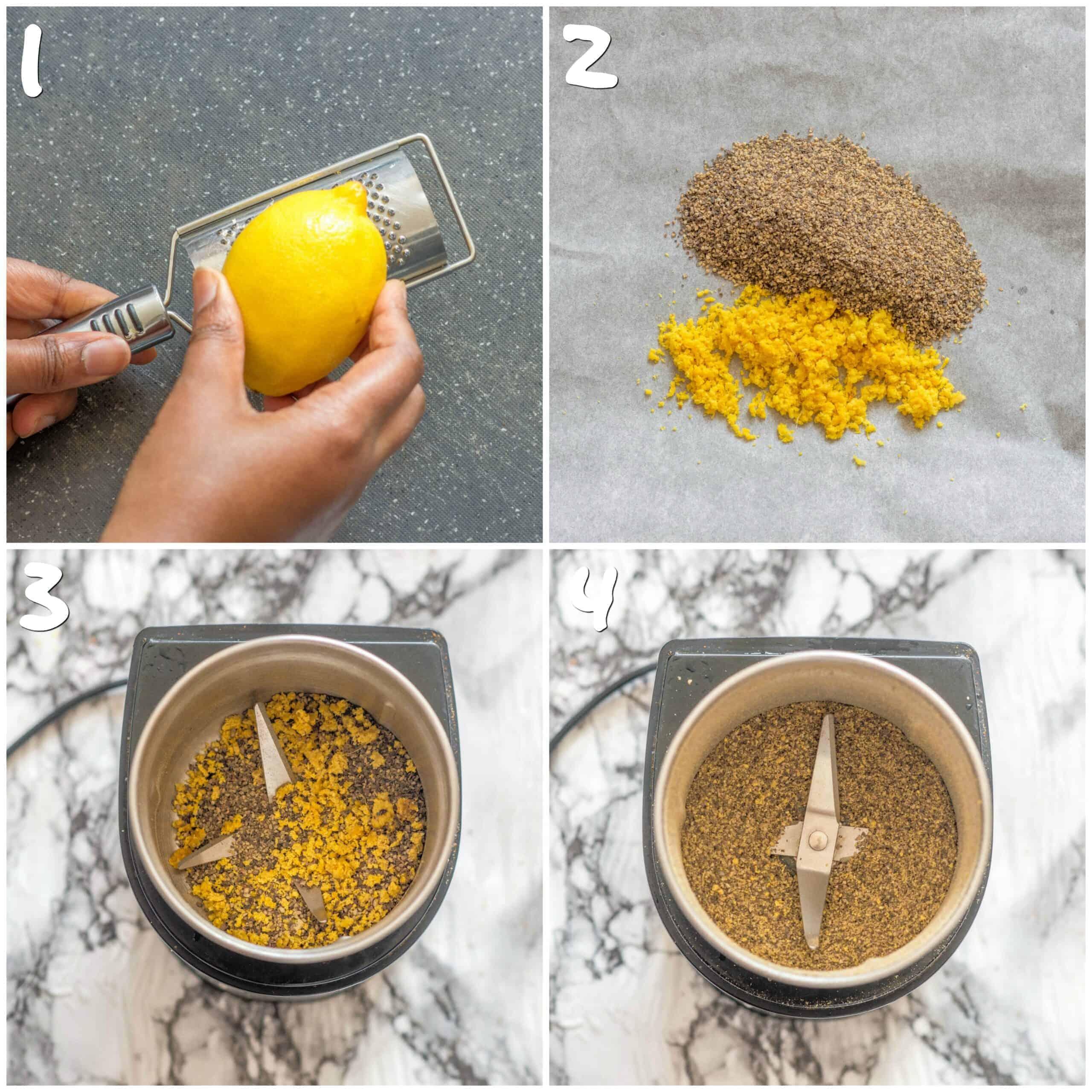 steps 1-4 preparing the seasoning