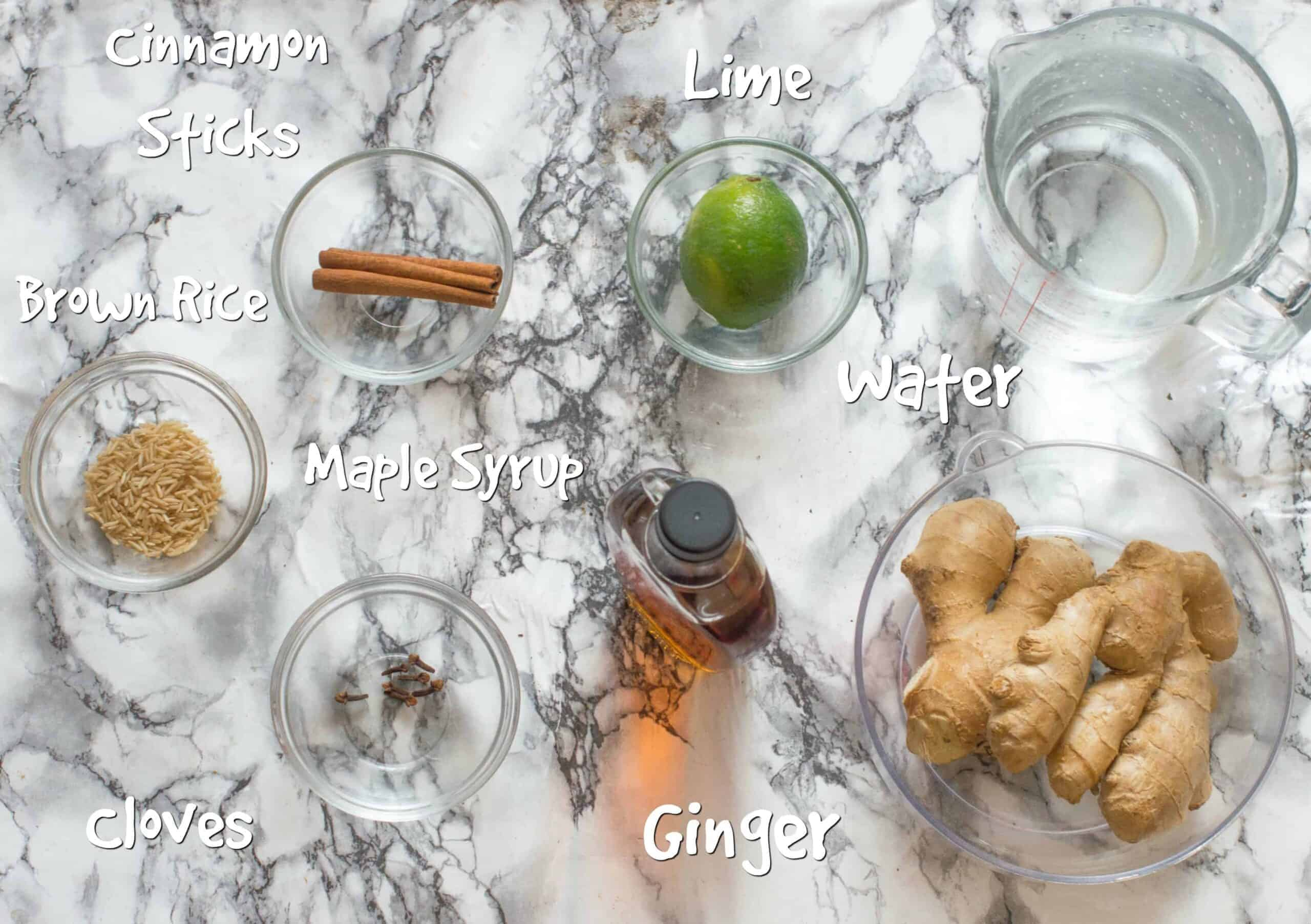ingredients for jamaican ginger beer