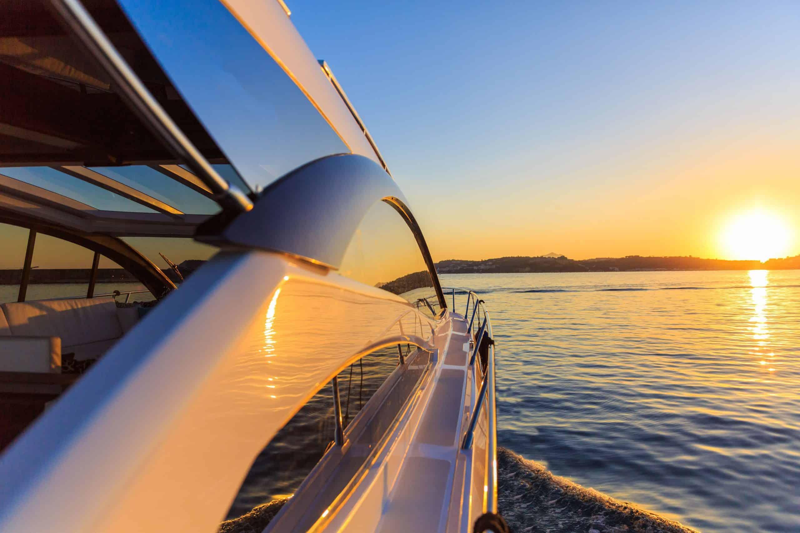 Superyacht at Sunset