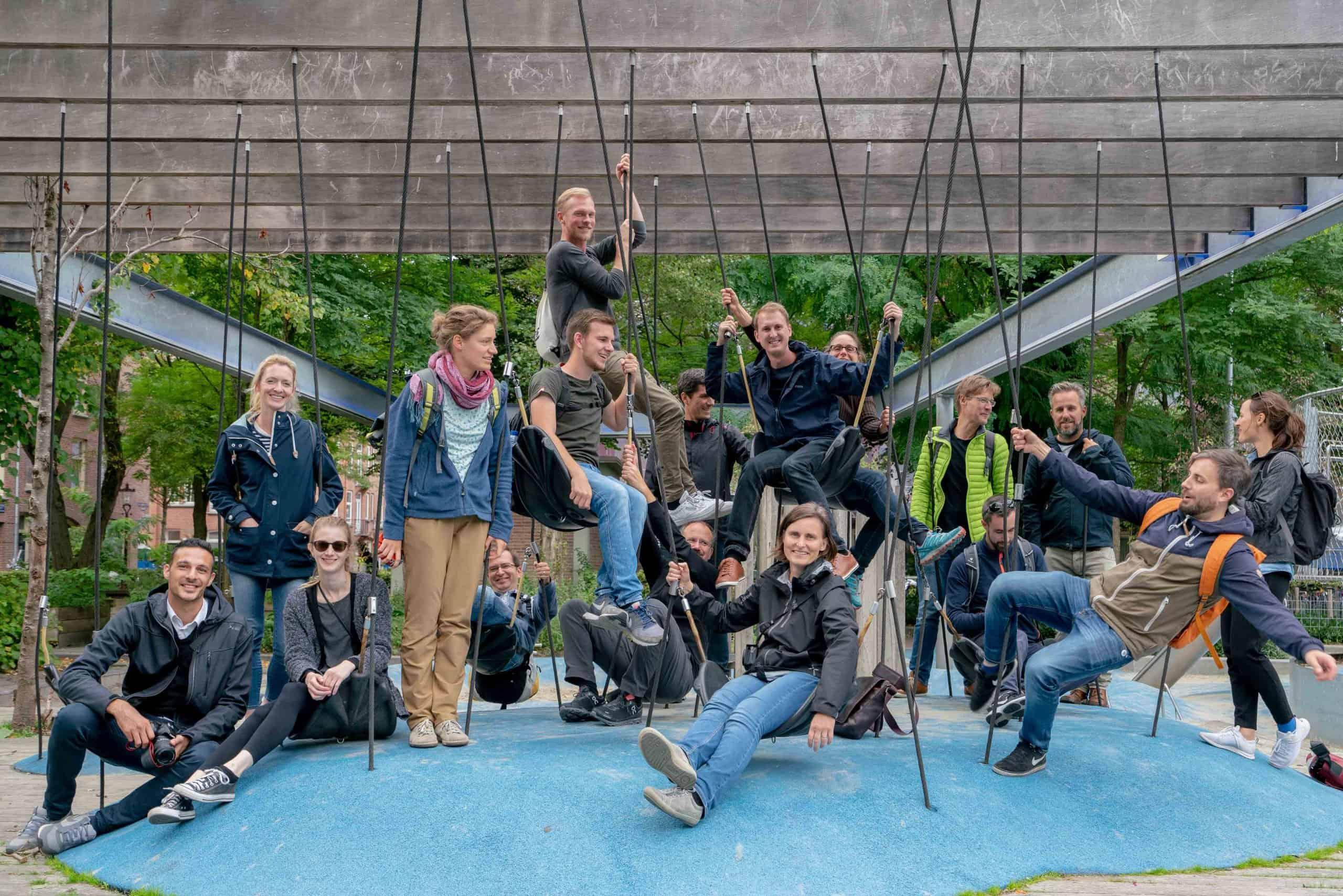 Gruppenbild Team ver.de - auf der Hollandexkursion 2018