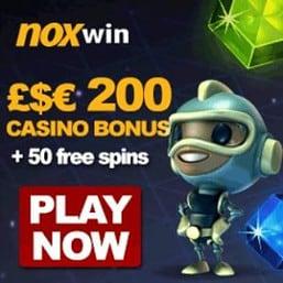 NOXWIN CASINO 50 free spins and No Deposit Bonus