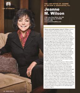 Jeanne M. Wilson - CSprings Style Mag - 2019