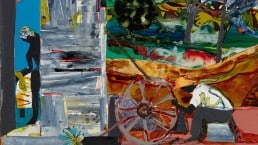 Romare Bearden - Morning: The Broken Wheel - 1986