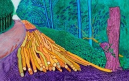 David Hockney - More Felled Trees on Woldgate