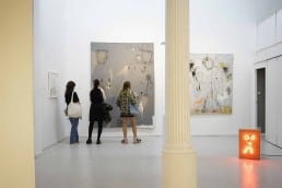 Visitors to L & B Gallery, Barcelona gallery weekend