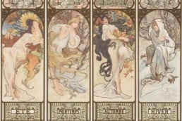 Alphonse Mucha, Four Seasons, 1890s.