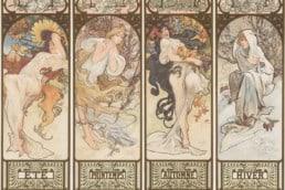 Alphonse Mucha, Four Seasons, 1890s.