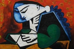 The Reader, 1953, Pablo Picasso. Collection of National Gallery - Staatliche Museen zu Berlin.