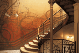 Staircase of the Tassel House, designed by Victor Horta