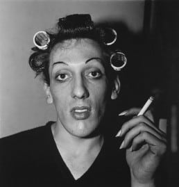Diane Arbus: A Young Man in Curlers at Home on West 20th Street, NYC, 1966