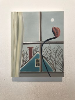 Matthew Wong, Early Moon, 2019, oil on canvas, 20 x 16 inches