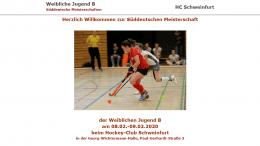 Sportdeutschland.TV – SDM wJB – 09.02.2020 09:15 h