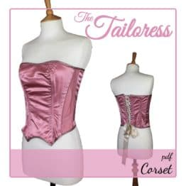 The Tailoress PDF Sewing Patterns - Corset PDF Sewing Pattern