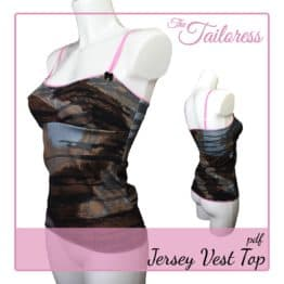 The Tailoress PDF Sewing Patterns - Jersey Vest Top PDF Sewing Pattern