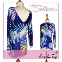The Tailoress PDF Sewing Patterns - Angela V-Neck Top PDF Sewing Pattern