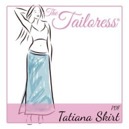 The Tailoress PDF Sewing Patterns - Tatiana Jersey Skirt PDF Sewing Pattern