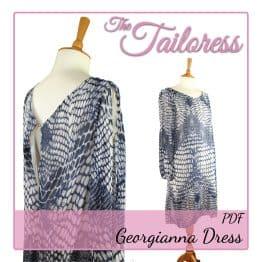 The Tailoress PDF Sewing Patterns - Georgianna Dress PDF Sewing Pattern