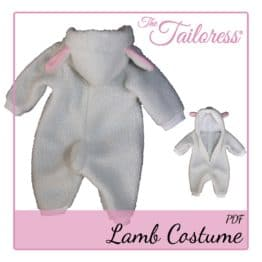 The Tailoress PDF Sewing Patterns - Children's LAMB - Playsuit Costume Pyjama PDF Pattern