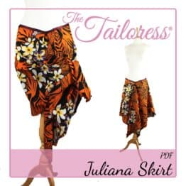 The Tailoress PDF Sewing Patterns - Juliana Sarong Handkerchief Skirt PDF Sewing Pattern