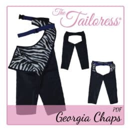 The Tailoress PDF Sewing Patterns - Georgia Equestrian Country Cowboy Cowgirl Chaps PDF Sewing Pattern