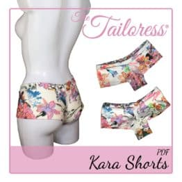 The Tailoress PDF Sewing Patterns - Kara Bikini Swimsuit Hot Pants Boy Shorts PDF Sewing Pattern