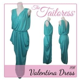 The Tailoress PDF Sewing Patterns - Valentina Dress PDF Sewing Pattern