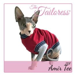 The Tailoress PDF Sewing Patterns - Amir Tee & Jumper for Cats PDF Sewing Pattern