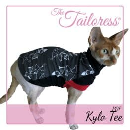 The Tailoress PDF Sewing Patterns - Kylo Open Front Tee for Sphynx Cats