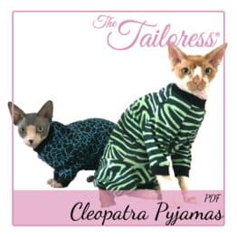 The Tailoress PDF Sewing Patterns - Cleopatra Pyjamas for Cats PDF Sewing Pattern