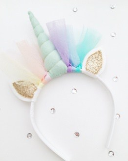 Unicorn diadeem mint goud