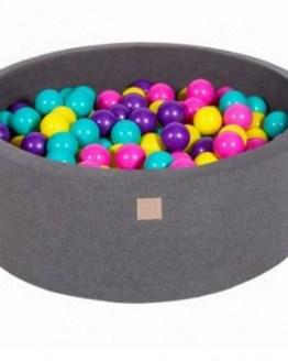 Ballenbijk donkergrijs met 200 ballen