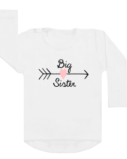 Shirt Big Sister Heart wit