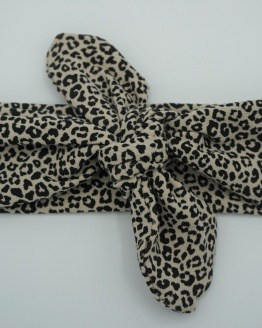 Wrap haarband tiny leopard