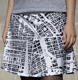 Order customized map clothes.