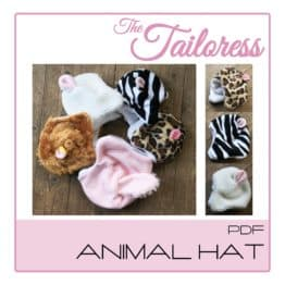 The Tailoress PDF Sewing Patterns - Child & Adult sizes - Animal Hat - PDF Sewing Pattern