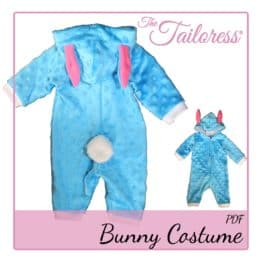 The Tailoress PDF Sewing Patterns - Children's Bunny - Playsuit Costume Pyjama PDF Pattern