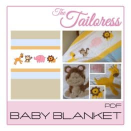 The Tailoress PDF Sewing Patterns - Safari Baby Blanket PDF Sewing Pattern