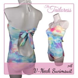 The Tailoress PDF Sewing Patterns - V-Neck Swimsuit PDF Sewing Pattern