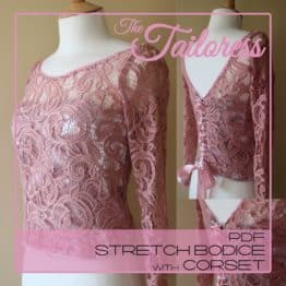 The Tailoress PDF Sewing Patterns - Stretch Lace Bodice with Corset PDF Sewing Pattern
