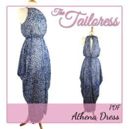 The Tailoress PDF Sewing Patterns - Athena Cowl Dress PDF Sewing Pattern