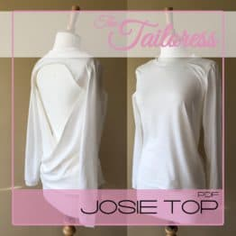 The Tailoress PDF Sewing Patterns - Josie Open Back Top PDF Sewing Pattern